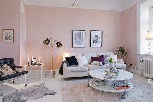 Pintura Rosa pared